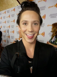 http://commons.wikimedia.org/wiki/File:Johnny_Weir_2010_GLAAD_Media_Awards.jpg
